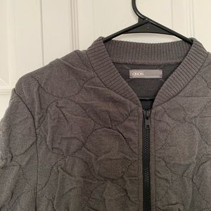 Gray Quilted Heavy Bomber